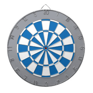 Colorful Dart Board in Detroit colors