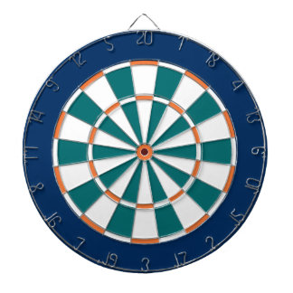 Colorful Dart Board in Miami colors