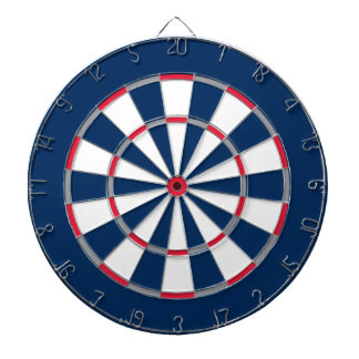 Colorful Dart Board in New England colors