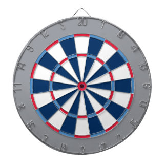 Colorful Dart Board in Tennessee colors