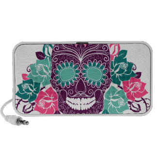 Colorful Day of the Dead Travel Speakers