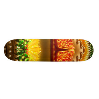 Colorful decorations skateboards
