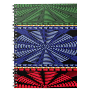Colorful Decorative Button Art GIFTS Wedding FUN Spiral Notebooks