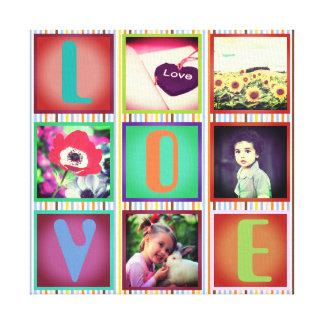 Colorful decorative custom photo canvas print