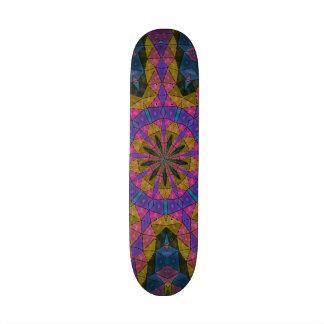 Colorful decorative mosaic skate board