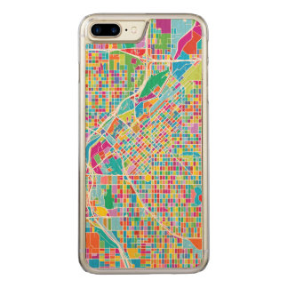 Colorful Denver Map Carved iPhone 8 Plus/7 Plus Case