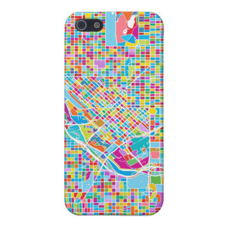 Colorful Denver Map Case For The iPhone 5