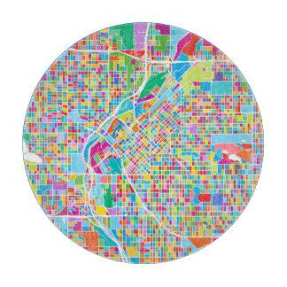Colorful Denver Map Cutting Board