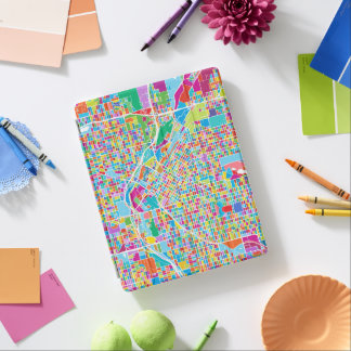 Colorful Denver Map iPad Cover