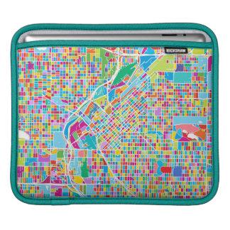 Colorful Denver Map iPad Sleeve