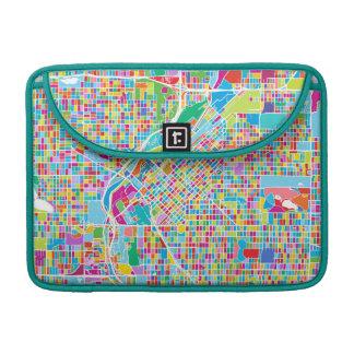 Colorful Denver Map MacBook Pro Sleeve