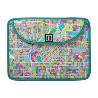 Colorful Denver Map Sleeve For MacBook Pro