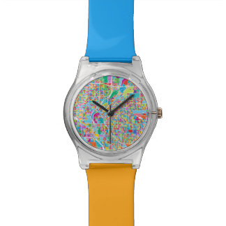 Colorful Denver Map Watches