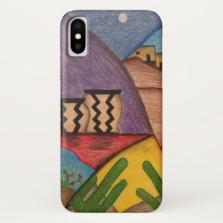 Colorful Desert Southwest Folk Art iPhone Case