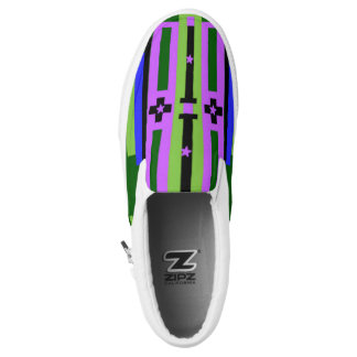 Colorful Design,Blue,Lilac,Green color. Printed Shoes