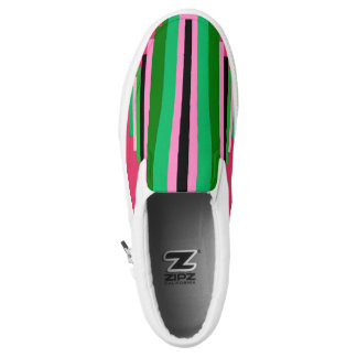 Colorful Design,Green,Pink,Black color. Printed Shoes