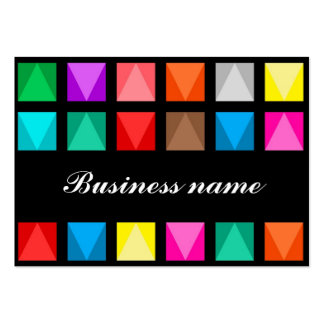 Colorful design pack of chubby business cards