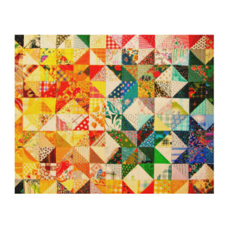 Colorful Design- Patch Wood Prints