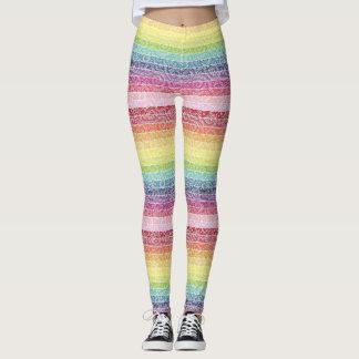 Colorful designed leggings