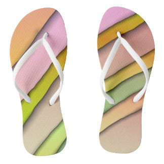 Colorful Designer Flip-Flops Thongs
