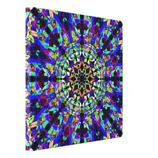 Colorful Detailed Mandala Canvas Print
