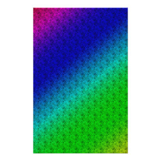 Colorful Diagonal Stripes and Flowers 14 Cm X 21.5 Cm Flyer