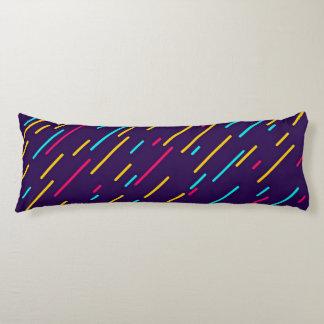 Colorful diagonal stripes body cushion