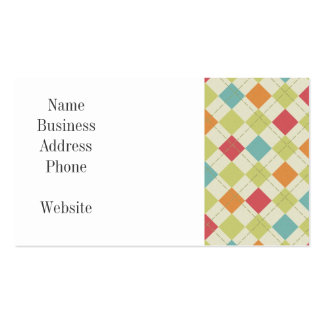 Colorful Diamond Argyle Pattern Gifts Business Card
