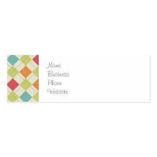 Colorful Diamond Argyle Pattern Gifts Business Card Templates