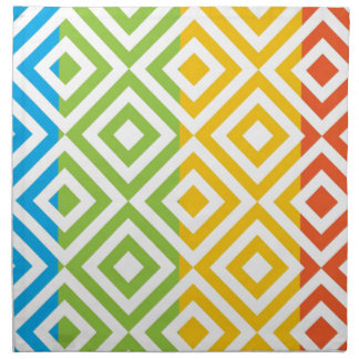 Colorful Diamond Pattern Napkin