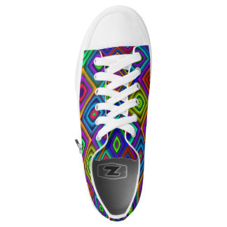 colorful diamond shoes printed shoes