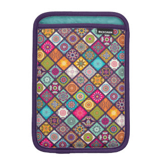 Colorful diamond tiled mandalas floral pattern iPad mini sleeve