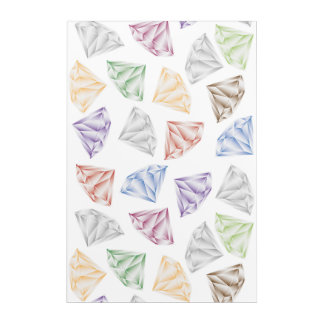Colorful Diamonds for my sweetheart Acrylic Print