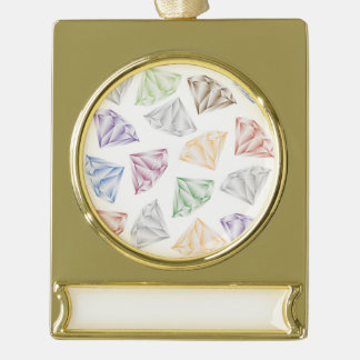 Colorful Diamonds for my sweetheart Gold Plated Banner Ornament