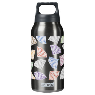 Colorful Diamonds for my sweetheart Insulated Water Bottle