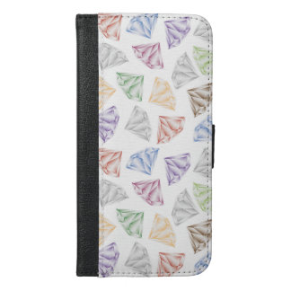 Colorful Diamonds for my sweetheart iPhone 6/6s Plus Wallet Case