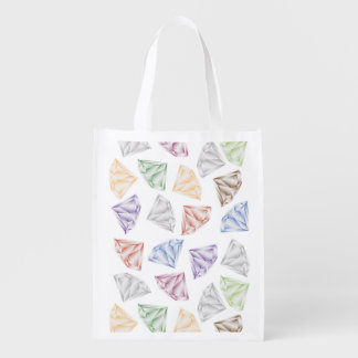 Colorful Diamonds for my sweetheart Reusable Grocery Bag