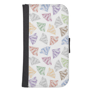 Colorful Diamonds for my sweetheart Samsung S4 Wallet Case