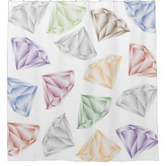 Colorful Diamonds for my sweetheart Shower Curtain