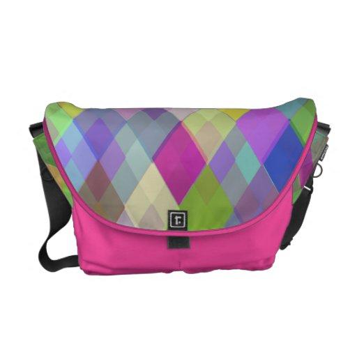 Colorful Diamonds Rickshaw Medium Messenger Bag