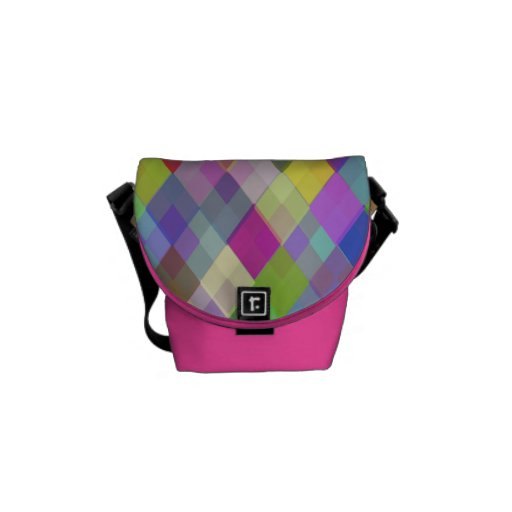 Colorful Diamonds Rickshaw Mini Zero Messenger Bag