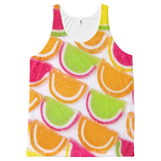 Colorful Different Jelly Candy All-Over Print Singlet