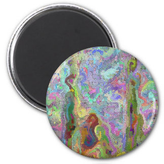 Colorful digital abstract mosaic, calm colors magnet