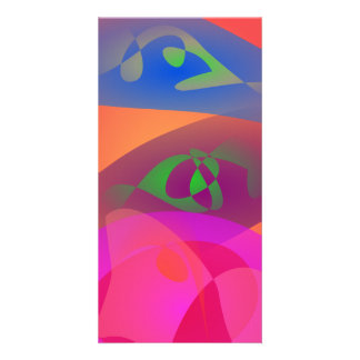 Colorful Digital Abstract Photo Card
