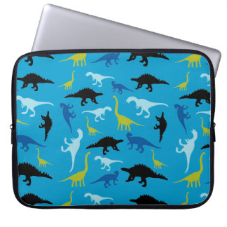 Colorful dinosaur pattern laptop sleeve