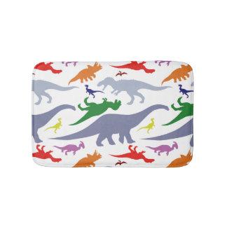 Colorful Dinosaur Pattern (Light) Bath Mat