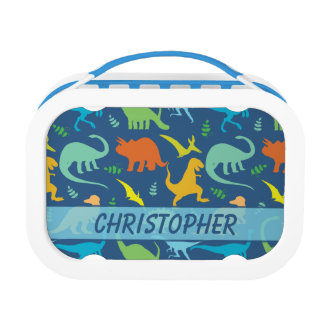 Colorful Dinosaur Pattern to Personalize Lunch Boxes