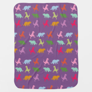 Colorful Dinosaurs Baby Blanket