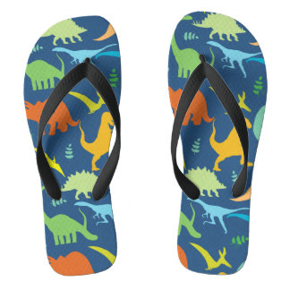 Colorful Dinosaurs Thongs
