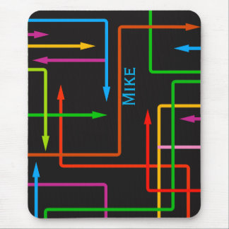 Colorful Directional Arrows Mouse Pad